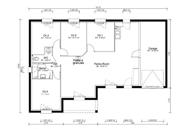 Maison neuve de 92 m² La Chapelle-de-Guinchay
