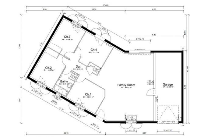 Maison neuve de 96 m² Villebois