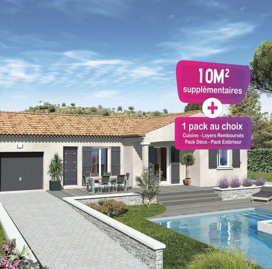 Maison neuve + terrain Roquemaure