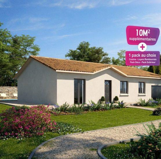 Maison neuve + terrain Saint-Alban-les-Eaux