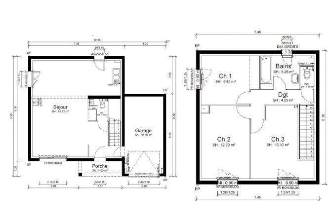 Maison neuve de 94 m² Pont-de-Chéruy