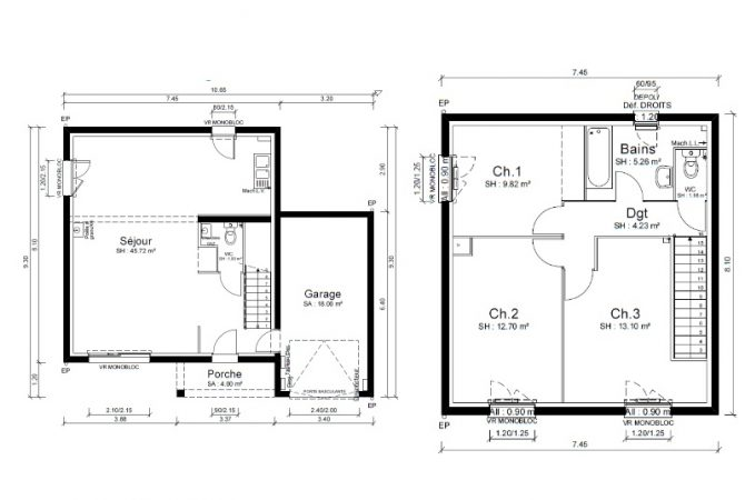 Maison neuve de 94 m² Villefranche-sur-Saône