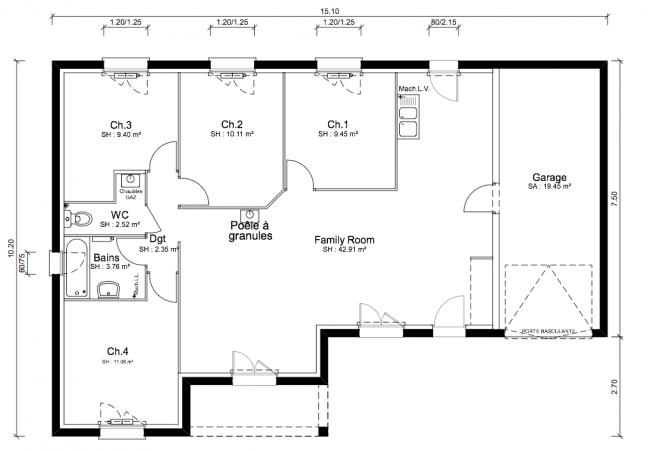 Maison neuve de 92 m² Grignan