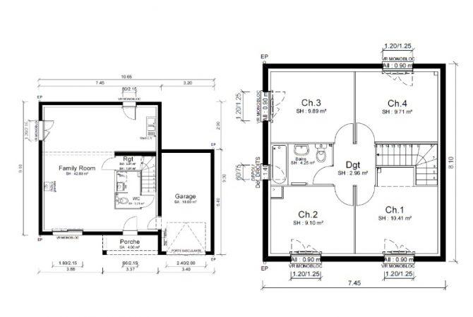 Maison neuve de 93 m² Saint-André-de-Corcy