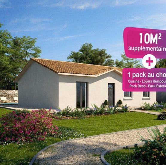 Maison neuve + terrain Saint-Maurice-de-Gourdans