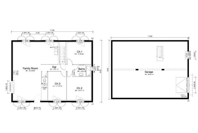 Maison neuve de 88 m² Meximieux